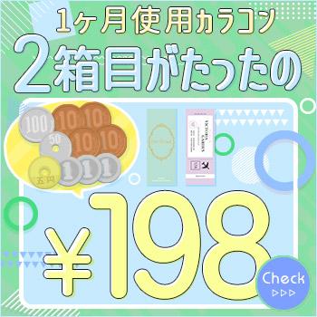 マンスリーカラコン2箱目180円